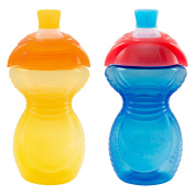 Munchkin Click Lock Bite Proof Sippy Cup, Yellow/Blue, 270ml, 2 Count