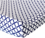 Oliver B Cheques Changing Pad Cover - Navy