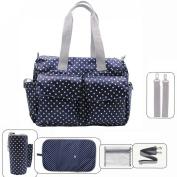 Damero Floral Designer Nappy Tote Bags