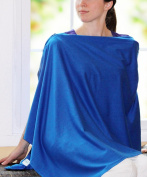 Nursing Cover - Full Coverage Poncho Style, 100% Cotton, Lightweight, Zipper Adjustment, Ideal for Nursing and Pumping
