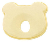 KSB 23cm Yellow Soft Anti Roll Memory Foam Baby Head Positioner Pillow,Prevent Flat Head For 3 Months- 1 Year Infant