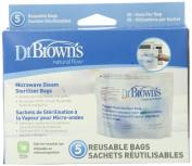 Dr. Brown`s Microwave Steam Steriliser Bags - 2 Packs of 5 Count = 10 Bags