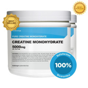 Nutricost Creatine Monohydrate 500G (2Pack) - 5000mg Per Serv, 500G and 200 Servings Each - Pure Creatine Monohydrate - Explosive Energy & Power