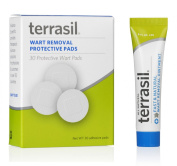 Terrasil Fast & Natural Wart Removal Ointment, 14g Tube + 30 Protective Wart Pads