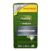Depend for Men Underwear, Large/Extra Large, Case/56