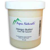 Mango Butter (0.5kg. / 470ml) By Aspen Naturals - 100% Pure, High-quality, Unrefined and Natural - Excellent Moisturiser for Skin and Hair - Use to Make Cream, Soap, Oil or Lotion. Scent-free.