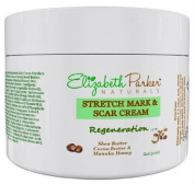 Stretch Mark & Scar Cream - Best Natural Removal - Prevent Stretch Marks During Pregnancy - Great for Sensitive Skin - with Cocoa Butter - 60ml