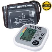 Blood Pressure Monitor by VIVE - Best Automatic Digital Upper Arm BPM - Guaranteed Accuracy, Perfect for Home Use - 2 YEAR WARRANTY
