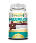 Caralluma Fimbriata Extract Pure - 60 All Natural Super Strength Non Stimulant Appetite Suppressant Capsules - Weight Loss Supplement That Blocks Carbs And Burns Fat While Giving You Energy
