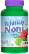 Piping Rock Tahitian Noni 410 mg 120 Quick Release Capsules Herbal Supplement