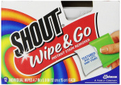 Shout Wipes, 12-Count