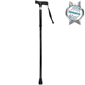 Folding Cane by Vive - Walking Cane for Men & Women - Collapsible, Lightweight, Adjustable & Portable Walking Stick Mobility Aid - Sleek Look & Comfortable Handles