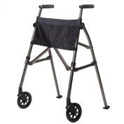 Stander Ez Fold N' Go Height Adjustable Lightweight Travel Walker, Black Walnut, 3.4kg