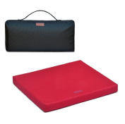 The Upgrade Seat, 100% Natural Latex Foam Portable Chairpad for Office, Autos, Wheelchairs with Cotton Cover