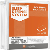 The Original Sleep Defence System - PREMIUM Zippered Bed Bug & Dust Mite Proof Box Spring Encasement & Hypoallergenic Protector - 140cm by 200cm , Full XL
