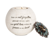 Pavilion Gift Company 19093 Forever in My Heart Terra Cotta Candle Holder, 10cm