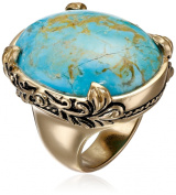 """Barse """"Jubilee"""" Turquoise Oval Ring"""