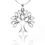925 Sterling Silver Celtic Knot Trinity Tree of Life Pendant Necklace, 46cm - Nickel Free