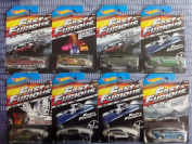 2015 Hot Wheels Fast & Furious - '69 Dodge Charger Daytona, '94 Toyota Supra, '70 Dodge Charger R/T, '72 Ford Grand Torino Sport, fits Nissan 350Z, Buick Grand National, Subaru WRX STI, Ford GT-40 - Complete Set of 8!!