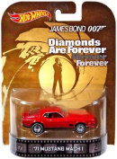"1971 Mustang Mach 1 James Bond 18cm Diamond are Forever"" Hot Wheels 2014 Retro Series Die Cast Vehicle"