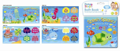 SOFT BABY BATH BOOK EDUCATIONAL TOY 6 MONTHS WATERPROOF SEA AND ALPHABET ANIMALS CHOOSE BOOK (PACK OF TWO)