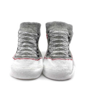 Child Toddler Shoes Printing Baby Socks Cute Cotton Footwear Keep Warm Grey