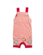 Little Green Radicals Baby-Girls Pale Pink Zepplins Storytime Dungarees
