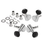Generic Ukulele 2R2L Chrome Geared Machine Heads with Mounting Screws