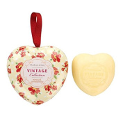 Heathcote & Ivory Vintage Collection Mimosa & Pomegranate Soap in Heart Tin