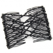 Veroda Elastic Stretchy Double Bead Hair Magic Comb Clip