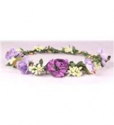 Boho flower head garland floral headdress flower garland festiva wedding