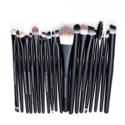 Tailcas Professional 20 pcs Makeup Brush Kit Eyebrow Shadow Blush Eyeshadow Eyeliner Lip Makeup Brushes Set, Especially Designed for Girls / Teens / Women / Ladies -