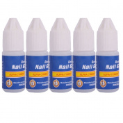 LIFECART 5pcs Acrylic Nail Art Glue French False Tips Manicure Tool