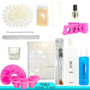 NYK1 Vital 1 Pro ESSENTIALS Shellac Nailac GEL & ACRYLIC NAIL ACCESSORY STARTER KIT