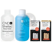 CND Shellac Top & Base Coat (7.3ml) + Scrub Fresh & Nourishing Remover -