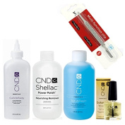 CND Scrub Fresh 236ml + CND Nourishing Remover 236ml + CND Cuticle Away 118ml & CND Solar Oil 7.3ml