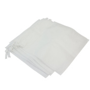 5 Pcs White Replacement Bags Salon Tools for Nail Art Dust Suction Collector