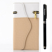 inShang Case for Apple iPhone 6 Plus 14cm with Zipper + Wallet design, iPhone 6+ 14cm Pouch Stand iPhone6 Skin Cover + 1pc High end class business stylus Pen