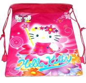 Kids Cartoon Character Double Print Drawstring PE Shoe Swimming Bag Gym Nursery Backpack Kitty