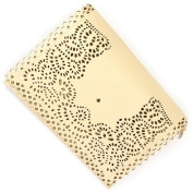 Large Summer Beige Cut-out Leather Rectangle Foldover Clutch Bag and Purse
