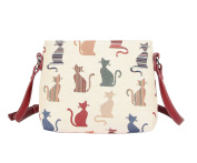 Signare Womens Tapestry Fashion Shoulder Handbag Across Body Bag in Cheeky Cat Design