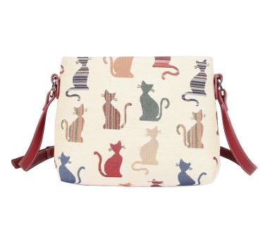 Signare Womens Tapestry Fashion Shoulder Handbag Across Body Bag in Cheeky Cat Design