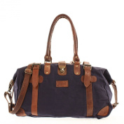 shopper Leconi canvas leather vintage weekender LE2008-C
