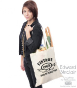 VINTAGE 1965 AGED TO PERFECTION 50th Birthday Present Tote Bag - With A Black Print - Edward Sinclair Shoulder Bag