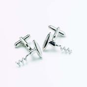 Onyx Art Metallic corkscrew Designer Cufflink's in a gift box by Premier Life Store - GMC50