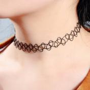 Godagoda Black Stretch Elastic Tattoo Choker Necklace