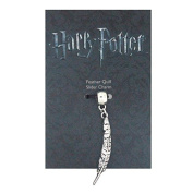 Official Harry Potter silver plated slider charm - Feather Quill