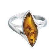 Nature d'Ambre 3111129-Women's Ring Sterling Silver 925/1000 Amber
