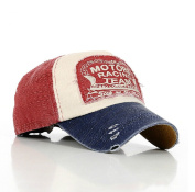 Hot Red Fashion Distressed Vintage Cotton Baseball Cap Snapback Trucker Hat Hiking Hat