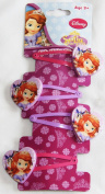 Disney Princess Sofia the First Hair Sleepies Clips Accessories with Heart Shaped Tag